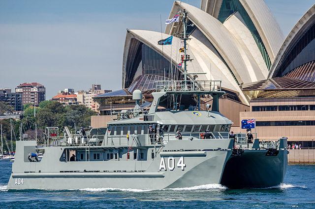 Een Australisch ship voor het operagebouw van Sydney